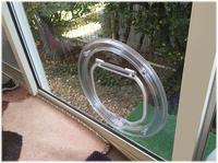 ガラス用キャットドア