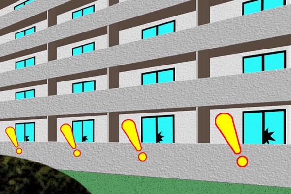 空き巣の絨毯爆撃イメージ