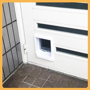 マグネットロック付きドア用中型猫ドア
