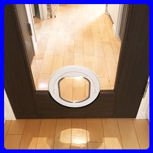 ガラス用小型犬大型猫ドア