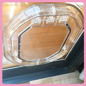 ガラス用中型猫ドア